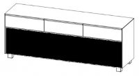 Maja 7775 Soundboard Weißglas matt - Akustikstoff schwarz